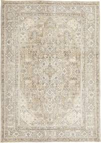 Colored Vintage Rug 198X280 Authentic  Modern Handknotted Light Grey/Beige (Wool, Persia/Iran)