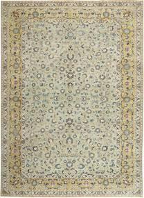 Keshan Patina Teppe 310X440 Ekte Orientalsk Håndknyttet Lys Grå/Olivengrønn Stort (Ull, Persia/Iran)