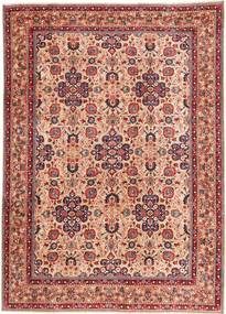 Moud Patina Matta 205X290 Äkta Orientalisk Handknuten Brun/Ljusrosa (Ull, Persien/Iran)