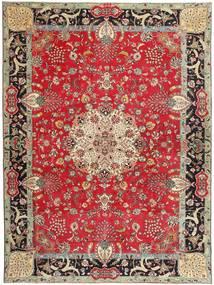 Täbriz Patina Signatur: Bradaran Teppich 283X385 Echter Orientalischer Handgeknüpfter Dunkelrot/Dunkelbraun Großer (Wolle, Persien/Iran)