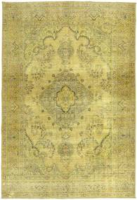 Colored Vintage Rug 195X285 Authentic  Modern Handknotted Olive Green/Yellow (Wool, Persia/Iran)
