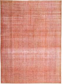 Colored Vintage Tapete 288X390 Moderno Feito A Mão Luz Rosa/Castanho Claro Grande (Lã, Pérsia/Irão)