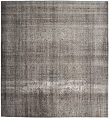 Colored Vintage Rug 290X310 Authentic  Modern Handknotted Square Light Grey/Dark Grey Large (Wool, Persia/Iran)