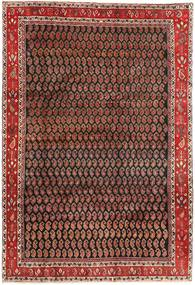 Arak Rug 199X290 Authentic  Oriental Handknotted Dark Brown/Dark Red (Wool, Persia/Iran)