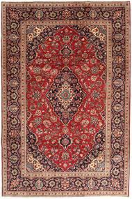 Keshan Rug 200X295 Authentic  Oriental Handknotted Dark Red/Brown (Wool, Persia/Iran)