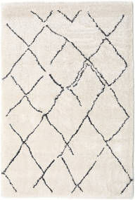 Shaggy Agadir - Off-White/Dark Grey Rug 200X300 Modern Light Grey/Beige/White/Creme ( Turkey)