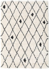 Shaggy Zanjan - Off White/Dark Grey Rug 160X230 Modern Beige/Light Grey ( Turkey)