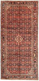 Hosseinabad Rug 157X328 Authentic  Oriental Handknotted Hallway Runner  Brown/Dark Brown (Wool, Persia/Iran)
