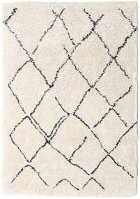 Shaggy Agadir - Off-White/Dark Grey Rug 160X230 Modern Beige/Light Grey ( Turkey)