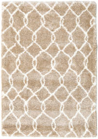 Shaggy Taza - Beige / White carpet CVD19597