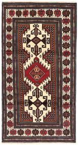 Beluch Tæppe 102X195 Ægte Orientalsk Håndknyttet Sort/Beige (Uld, Persien/Iran)