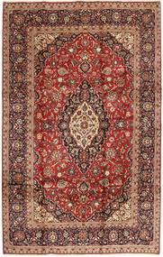 Keshan Matto 200X308 Itämainen Käsinsolmittu Tummanpunainen/Ruskea (Villa, Persia/Iran)