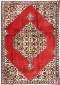 Tabriz Rug 185X262 Authentic  Oriental Handknotted Crimson Red/Dark Red (Wool, Persia/Iran)