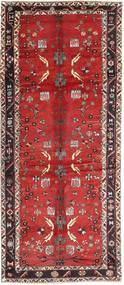 Bakhtiari Rug 155X373 Authentic  Oriental Handknotted Hallway Runner  Dark Red/Rust Red/Brown (Wool, Persia/Iran)