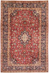 Keshan Rug 198X303 Authentic  Oriental Handknotted Dark Red/Dark Brown (Wool, Persia/Iran)