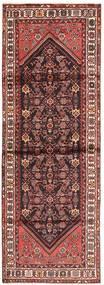 Hamadan Matto 100X300 Itämainen Käsinsolmittu Käytävämatto Ruskea/Tummanpunainen (Villa, Persia/Iran)