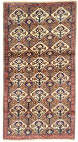 Koliai Rug 100X187 Authentic  Oriental Handknotted Brown/Light Pink (Wool, Persia/Iran)