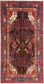 Nahavand Rug 151X292 Authentic  Oriental Handknotted Hallway Runner  Brown/Dark Red (Wool, Persia/Iran)