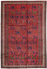 Kurdi Rug 187X280 Authentic Oriental Handknotted Dark Red/Brown (Wool, Persia/Iran)