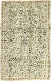 Keshan Alfombra 198X315 Oriental Hecha A Mano Beige Oscuro/Verde Oliva (Lana, Persia/Irán)