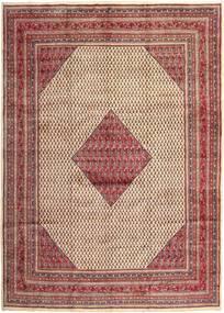Sarough Mir Matta 293X398 Äkta Orientalisk Handknuten Mörkröd/Beige Stor (Ull, Persien/Iran)