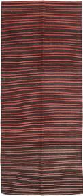 Kilim Fars Dywan 143X360 Orientalny Tkany Ręcznie Chodnik Ciemnobrązowy/Ciemnoczerwony (Wełna, Persja/Iran)