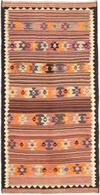 Kelim Fars Matto 148X297 Itämainen Käsinkudottu Käytävämatto Tummanruskea/Vaaleanruskea (Villa, Persia/Iran)