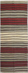 Kilim Fars Rug 155X407 Authentic  Oriental Handwoven Hallway Runner  Dark Brown/Beige (Wool, Persia/Iran)