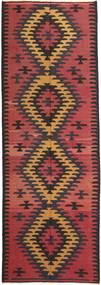 Kelim Matta 157X427 Äkta Orientalisk Handvävd Hallmatta Brun/Mörkbrun (Ull, Persien/Iran)