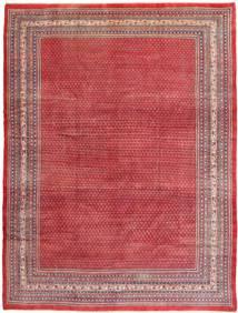 Sarough Mir Matta 298X391 Äkta Orientalisk Handknuten Röd/Mörkröd Stor (Ull, Persien/Iran)