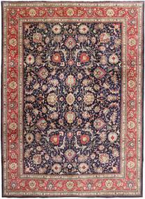 Tabriz Matta 295X405 Äkta Orientalisk Handknuten Mörklila/Ljusbrun Stor (Ull, Persien/Iran)