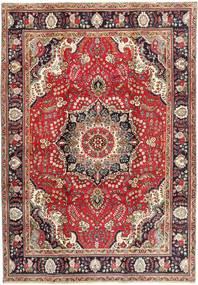 Tabriz Szőnyeg 206X295 Keleti Csomózású Sötétpiros/Világosbarna (Gyapjú, Perzsia/Irán)
