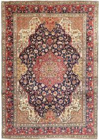 Tabriz Matto 243X344 Itämainen Käsinsolmittu Vaaleanruskea/Tummanvioletti (Villa, Persia/Iran)