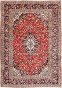 Keshan Rug 247X348 Authentic  Oriental Handknotted Light Pink/Light Brown (Wool, Persia/Iran)