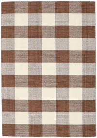 Check Kilim - Brown / White rug CVD18354
