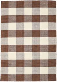 Check Kilim - Brown / White carpet CVD18352