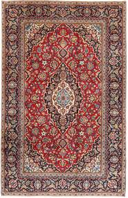 Keshan Rug 195X305 Authentic  Oriental Handknotted Dark Red/Dark Brown (Wool, Persia/Iran)
