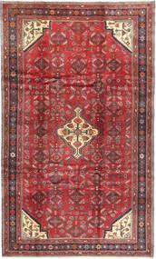 Hamadan Teppe 199X336 Ekte Orientalsk Håndknyttet Mørk Rød/Rød (Ull, Persia/Iran)