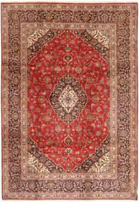 Keshan Rug 209X300 Authentic  Oriental Handknotted Dark Red/Rust Red (Wool, Persia/Iran)