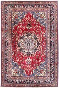 Mashad Szőnyeg 197X296 Keleti Csomózású Sötétlila/Világos Rózsaszín (Gyapjú, Perzsia/Irán)