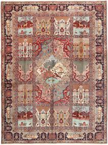 Tabriz Covor 297X404 Orientale Lucrat Manual Roșu-Închis/Maro Mare (Lână, Persia/Iran)