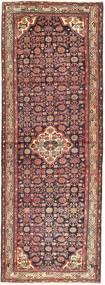 Hamadan Matto 113X318 Itämainen Käsinsolmittu Käytävämatto Tummanpunainen/Tummanruskea (Villa, Persia/Iran)