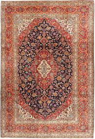 Keshan Rug 244X357 Authentic  Oriental Handknotted Dark Brown/Crimson Red (Wool, Persia/Iran)