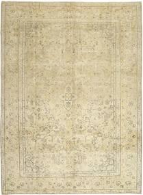 Colored Vintage Teppich  284X383 Echter Moderner Handgeknüpfter Dunkel Beige/Beige/Olivgrün Großer (Wolle, Persien/Iran)