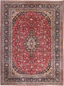 Mashad Patina Alfombra 298X393 Oriental Hecha A Mano Azul Oscuro/Rojo Oscuro Grande (Lana, Persia/Irán)