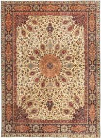 Tabriz Patina Alfombra 298X408 Oriental Hecha A Mano Marrón Claro/Marrón Grande (Lana, Persia/Irán)