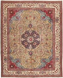Tabriz Patina Rug 306X380 Authentic  Oriental Handknotted Light Brown/Brown Large (Wool, Persia/Iran)