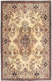 Tabriz Patina Tapete 211X322 Oriental Feito A Mão Castanho Claro/Amarelo (Lã, Pérsia/Irão)