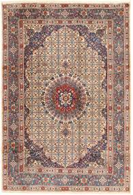 Moud Rug 198X288 Authentic  Oriental Handknotted Light Brown/Brown (Wool, Persia/Iran)
