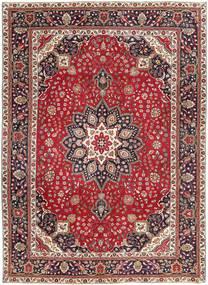 Tabriz Patina Teppe 250X344 Ekte Orientalsk Håndknyttet Brun/Mørk Brun Stort (Ull, Persia/Iran)